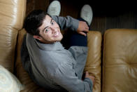 """Jaren Lewison poses for a photo Wednesday, June 23, 2021, in Dallas to promote his Netflix series """"Never Have I Ever."""" (AP Photo/LM Otero)"""