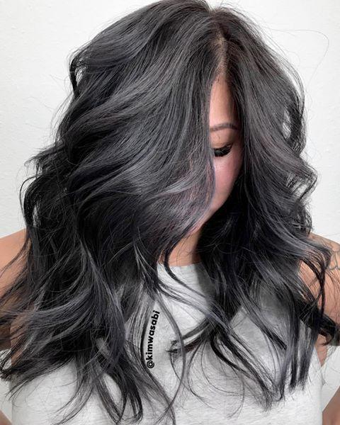 """<p>Starting to notice a few grays peaking through your dark hair? Instead of covering the grays, embrace them, and opt for a smokey charcoal overcast. </p><p><a href=""""https://www.instagram.com/p/B8w49fDnQ3m/?utm_source=ig_embed&utm_campaign=loading"""" rel=""""nofollow noopener"""" target=""""_blank"""" data-ylk=""""slk:See the original post on Instagram"""" class=""""link rapid-noclick-resp"""">See the original post on Instagram</a></p>"""