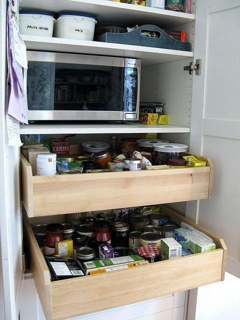"""<p><a class=""""link rapid-noclick-resp"""" href=""""https://www.amazon.com/Rev-Shelf-4WDB-15-Cabinet-Pull-Out/dp/B00H4QP030?tag=syn-yahoo-20&ascsubtag=%5Bartid%7C10057.g.3036%5Bsrc%7Cyahoo-us"""" rel=""""nofollow noopener"""" target=""""_blank"""" data-ylk=""""slk:BUY NOW"""">BUY NOW</a> <strong><em>Pull-Out Drawer, $51, amazon.com<br></em></strong></p><p>How to get to the stuff that inevitably gets pushed all the way to the back of the pantry? Follow the lead of <a href=""""http://www.ikeahackers.net/2010/08/customized-kitchen-pantry.html"""" rel=""""nofollow noopener"""" target=""""_blank"""" data-ylk=""""slk:IKEA hackers"""" class=""""link rapid-noclick-resp"""">IKEA hackers</a> and add drawers.</p>"""