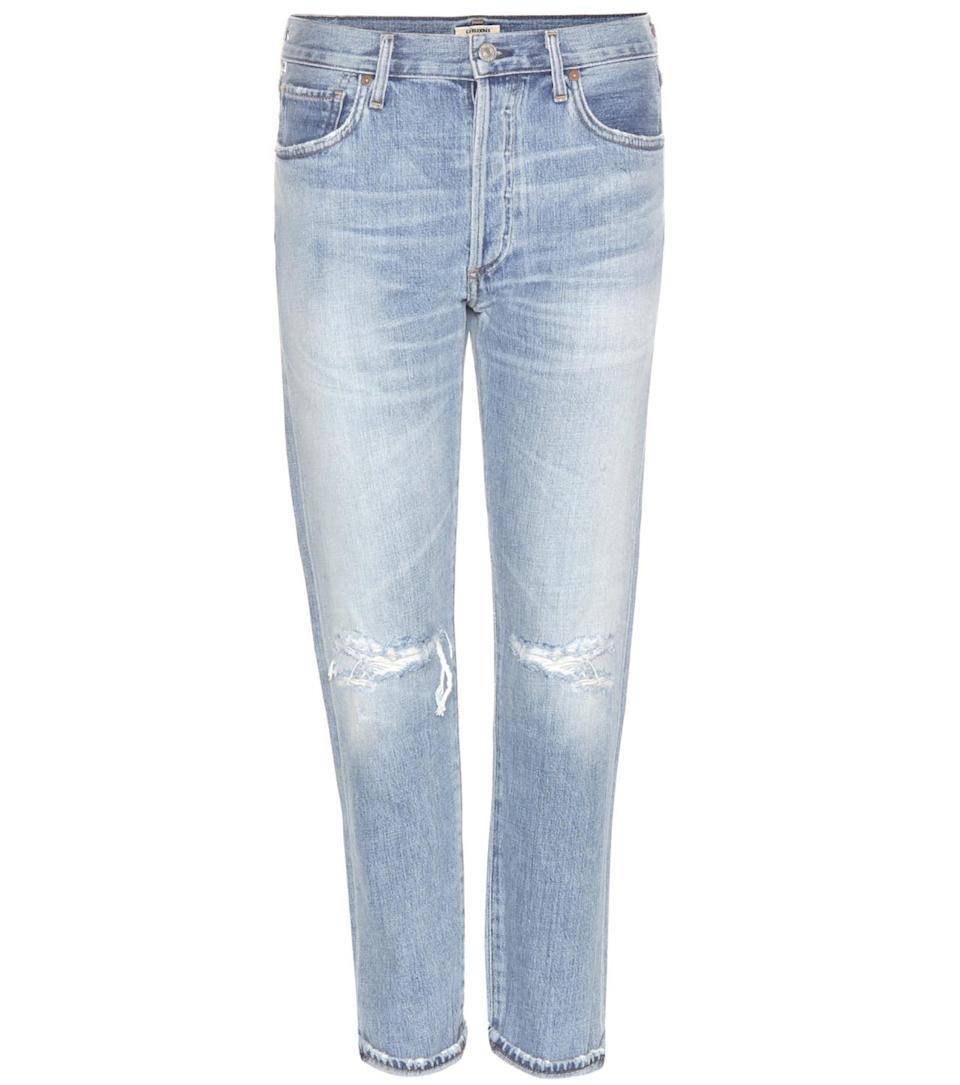 """<p>Liya high-rise classic fit in torn selvedge, $328, <a href=""""https://www.citizensofhumanity.com/womens/all-womens/liya-high-rise-classic-fit-in-torn"""" rel=""""nofollow noopener"""" target=""""_blank"""" data-ylk=""""slk:Citizens of Humanity"""" class=""""link rapid-noclick-resp"""">Citizens of Humanity</a></p>"""