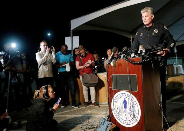 PHOTO: Gilroy Police Chief Scot Smithee speaks at a press conference at Gavilan College following a shooting at the Gilroy Garlic Festival, in Gilroy, Calif., July 28, 2018. (Josie Lepe/AP)