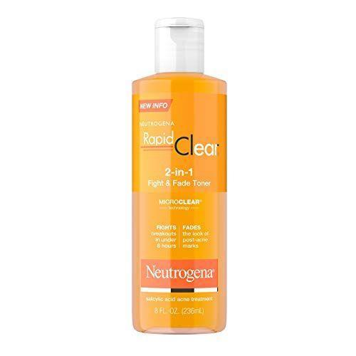 """<p><strong>Neutrogena</strong></p><p>amazon.com</p><p><strong>$18.44</strong></p><p><a href=""""https://www.amazon.com/dp/B003156NL6?tag=syn-yahoo-20&ascsubtag=%5Bartid%7C10072.g.36792186%5Bsrc%7Cyahoo-us"""" rel=""""nofollow noopener"""" target=""""_blank"""" data-ylk=""""slk:Shop Now"""" class=""""link rapid-noclick-resp"""">Shop Now</a></p><p><a href=""""https://www.oprahdaily.com/beauty/skin-makeup/a31786832/what-is-salicylic-acid/"""" rel=""""nofollow noopener"""" target=""""_blank"""" data-ylk=""""slk:Salicylic acid is a tried-and-true acne treatment ingredient"""" class=""""link rapid-noclick-resp"""">Salicylic acid is a tried-and-true acne treatment ingredient</a> that's available over-the-counter. But this ingredient may also help minimize the appearance of scars, says <a href=""""https://www.instagram.com/drhowardsobel/?hl=en"""" rel=""""nofollow noopener"""" target=""""_blank"""" data-ylk=""""slk:Howard Sobel, M.D."""" class=""""link rapid-noclick-resp"""">Howard Sobel, M.D.</a>, clinical attending dermatologic surgeon at Lenox Hill Hospital in New York City. """"Salicylic acid works to remove dead skin cells without stripping the barrier,"""" he says. This gentle toner contains the ingredient, and is one of Sobel's top picks.</p>"""