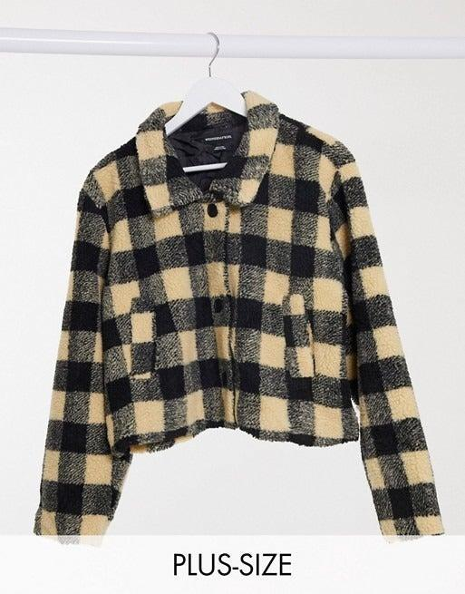 """<br><br><strong>Wednesday's Girl Curve</strong> Trucker Jacket In Borg Check, $, available at <a href=""""https://www.asos.com/wednesdays-girl-curve/wednesdays-girl-curve-trucker-jacket-in-borg-check/prd/20298960?"""" rel=""""nofollow noopener"""" target=""""_blank"""" data-ylk=""""slk:ASOS"""" class=""""link rapid-noclick-resp"""">ASOS</a>"""