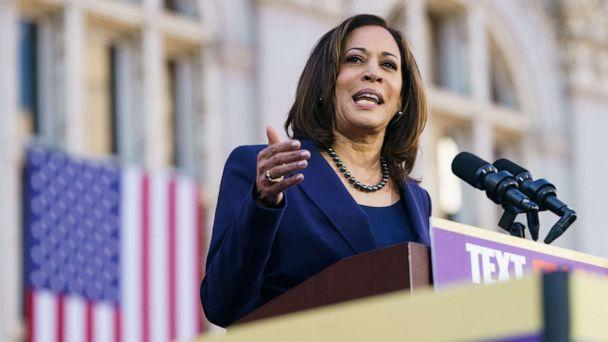 PHOTO: Sen. Kamala Harris speaks to her supporters during her presidential campaign launch rally in Frank H. Ogawa Plaza on Jan. 27, 2019, in Oakland, Calif. (Mason Trinca/Getty Images, FILE)
