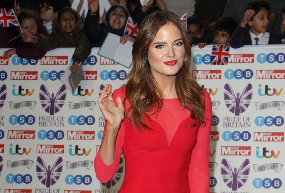 LONDON, -, UNITED KINGDOM - 2019/10/28: Binky Felstead on the red carpet at The Daily Mirror Pride of Britain Awards, in partnership with TSB, at the Grosvenor House Hotel, Park Lane. (Photo by Keith Mayhew/SOPA Images/LightRocket via Getty Images)