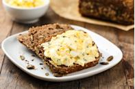 """<p>This healthy egg salad is perfect for a quick and easy meal. Just make sure you know <a href=""""https://www.thedailymeal.com/cook/peel-hard-boiled-eggs?referrer=yahoo&category=beauty_food&include_utm=1&utm_medium=referral&utm_source=yahoo&utm_campaign=feed"""" rel=""""nofollow noopener"""" target=""""_blank"""" data-ylk=""""slk:how to cook and peel hard-boiled eggs"""" class=""""link rapid-noclick-resp"""">how to cook and peel hard-boiled eggs</a> first.</p> <p><a href=""""https://www.thedailymeal.com/healthy-egg-salad-recipe?referrer=yahoo&category=beauty_food&include_utm=1&utm_medium=referral&utm_source=yahoo&utm_campaign=feed"""" rel=""""nofollow noopener"""" target=""""_blank"""" data-ylk=""""slk:For the Healthy Egg Salad recipe, click here."""" class=""""link rapid-noclick-resp"""">For the Healthy Egg Salad recipe, click here.</a></p>"""