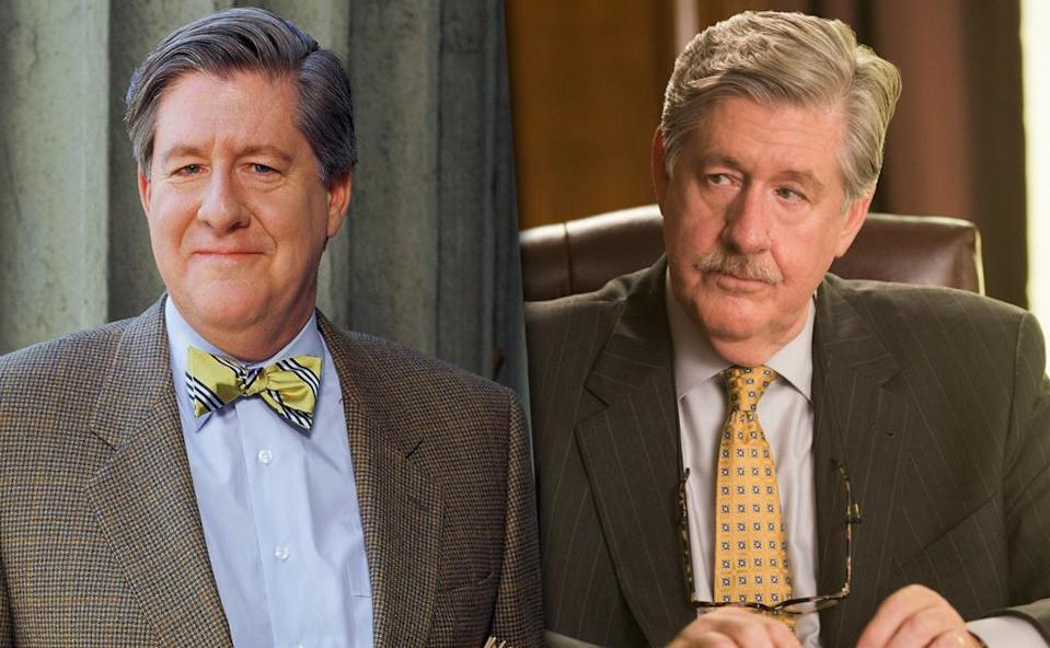 <p>The biggest loss that will be felt when <i>Gilmore Girls</i> returns will be that of Richard Gilmore. Edward Herrmann passed away in 2014 after a distinguished 41-year acting career. He had dozens of roles after <i>GG</i>, including a recurring stint as the intimidating Lionel Deerfield on Matt Czuchry's old stomping grounds, <i>The Good Wife</i>. <br><br>(Credit: Everett Collection/Getty Images) </p>
