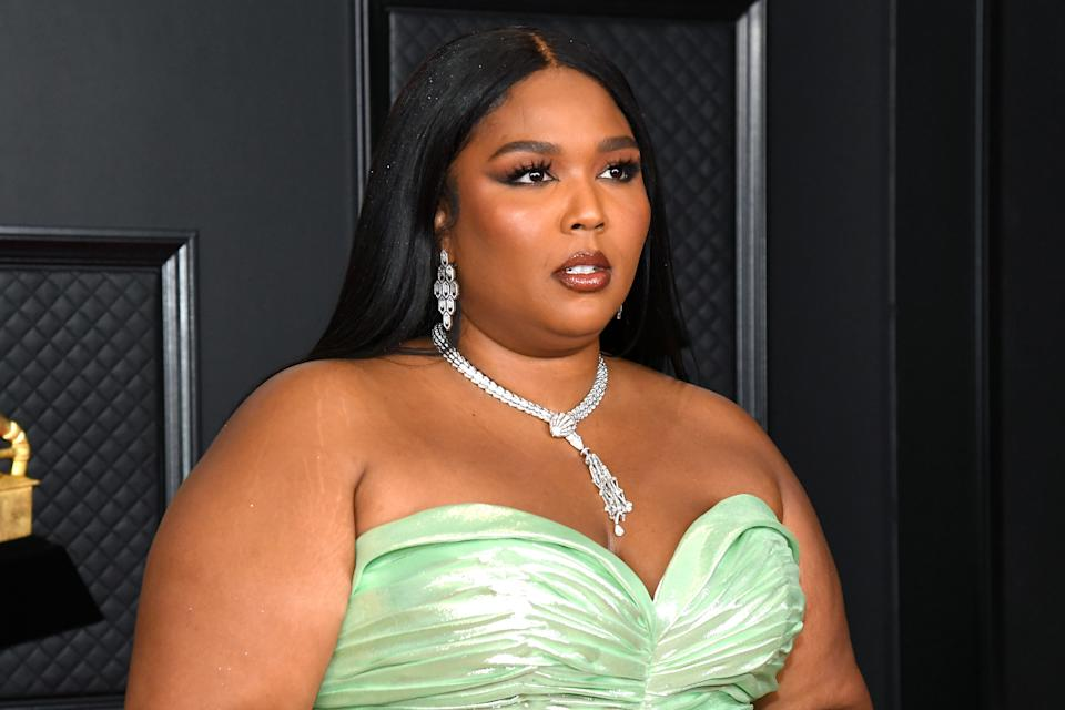 Music star Lizzo, 32, enjoyed a sun-drenched day on a yacht with friends. (Photo: Kevin Mazur/Getty Images for The Recording Academy)