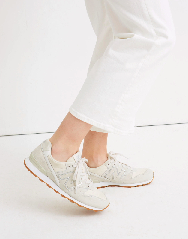 """<h3><a href=""""https://www.madewell.com/new-balancereg%3B-696-runner-sneakers-99105309232.html"""" rel=""""nofollow noopener"""" target=""""_blank"""" data-ylk=""""slk:New Balance 696 Runner Sneakers"""" class=""""link rapid-noclick-resp"""">New Balance 696 Runner Sneakers</a></h3><br>""""New balance 696 suede sneakers because they're SUPER comfy but still very nice shoes that can match a lot of outfits.""""<em> – Fernanda, travels a few times per year</em><br><br><strong>New Balance</strong> 696 Runner Sneakers, $, available at <a href=""""https://www.madewell.com/new-balancereg%3B-696-runner-sneakers-99105309232.html"""" rel=""""nofollow noopener"""" target=""""_blank"""" data-ylk=""""slk:Madewell"""" class=""""link rapid-noclick-resp"""">Madewell</a>"""
