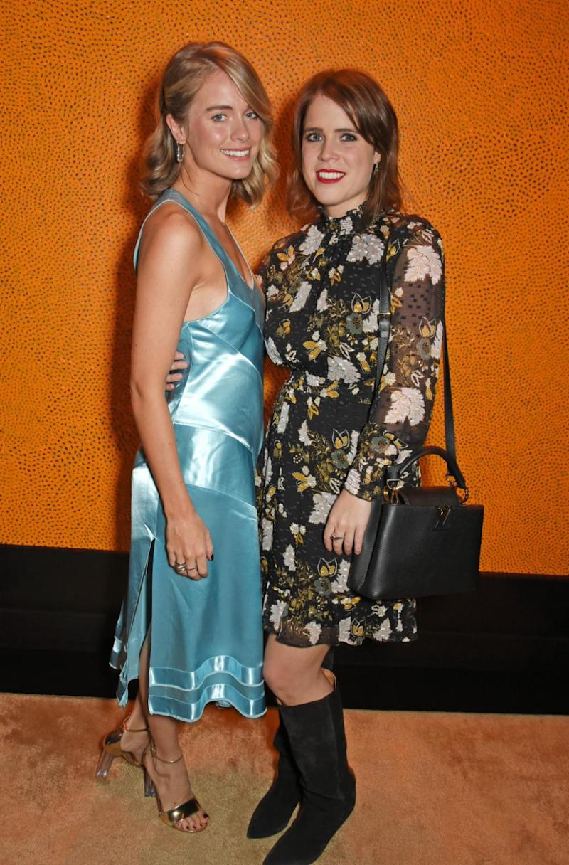 Eugeine is close friends with Harry's ex Cressida Bonas, they're pictured here in November last year. Photo: Getty