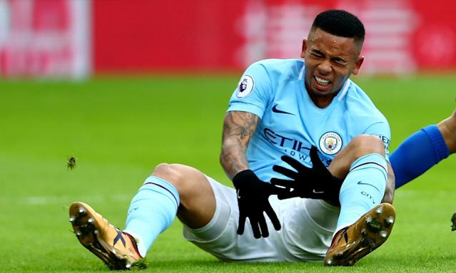 Gabriel Jesus picked up the injury on New Year's Eve against Crystal Palace.