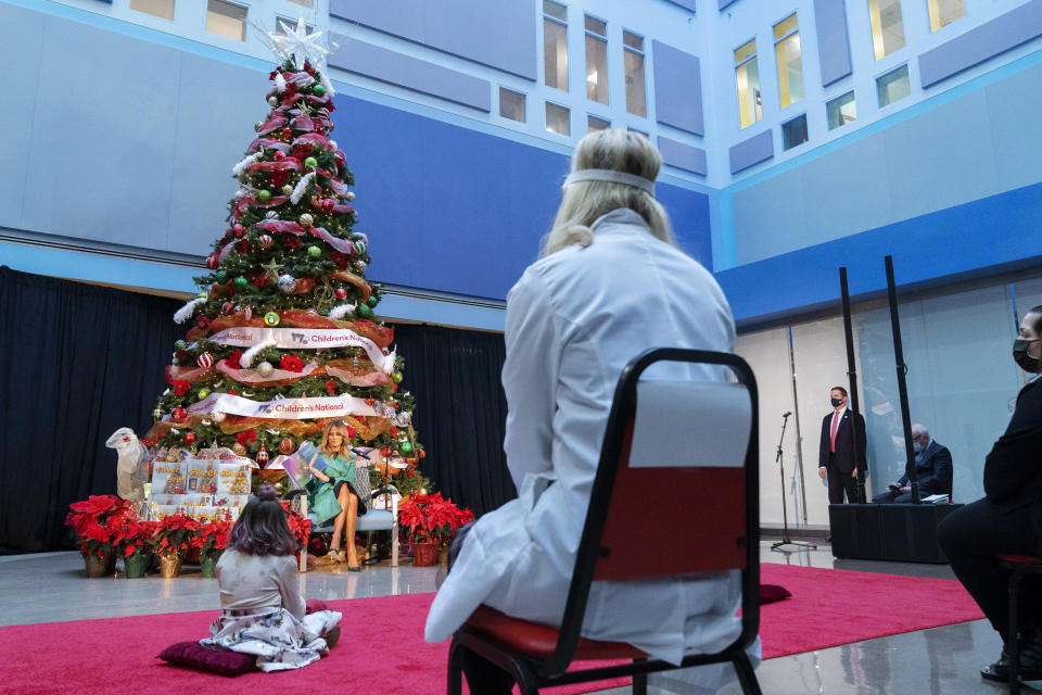 Pandemic doesn't break first lady holiday hospital tradition