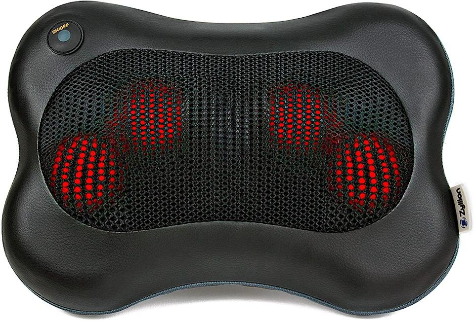 """<h3>Zyllion Shiatsu Back and Neck Massager</h3><br>Back rubs from your partner are sweet, but this Amazon bestseller might be sweeter. Reviewers — of which there are 26,000 and counting — swear that it's """"one of the best purchases I've ever made"""" and one passionate customer even referred to theirs as """"my loyal compadre."""" Need we say more?<br><br><strong>Zyllion</strong> Shiatsu Back and Neck Massager, $, available at <a href=""""https://amzn.to/2LlTjdz"""" rel=""""nofollow noopener"""" target=""""_blank"""" data-ylk=""""slk:Amazon"""" class=""""link rapid-noclick-resp"""">Amazon</a>"""