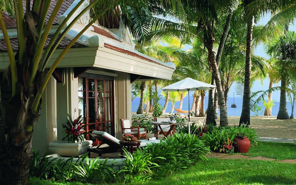 The beachfront resort of Santiburi on the Thai island of Koh Samui