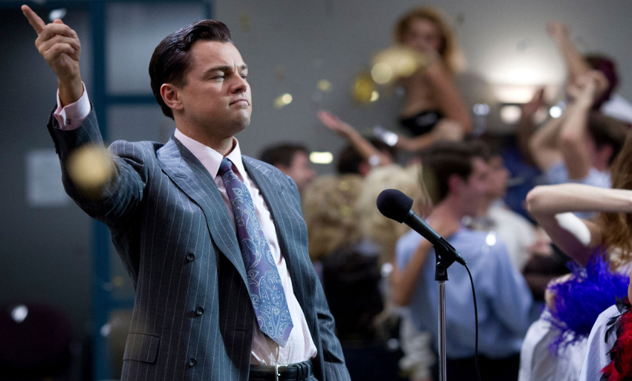 'Wolf of Wall Street' style office environments are driven by testosterone, research has shown (Picture: Paramount)