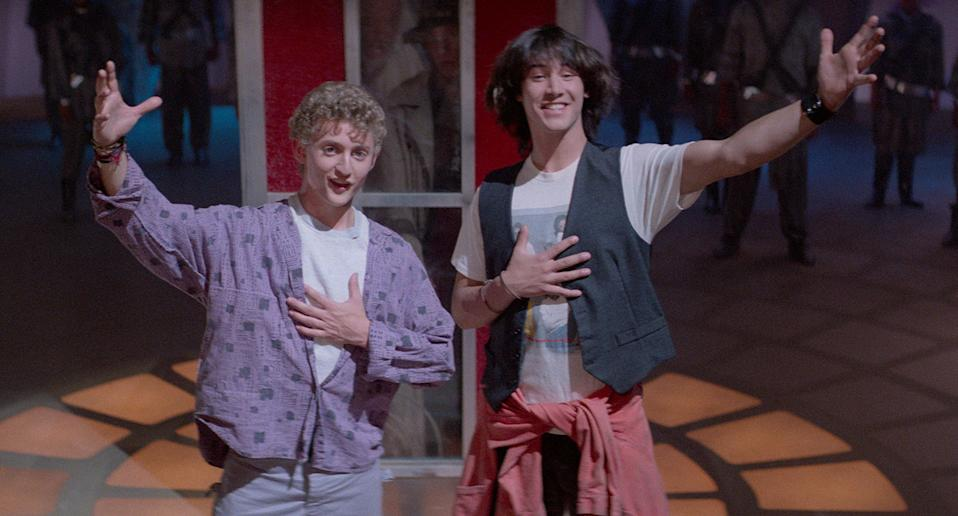 Alex Winter and Keanu Reeves in 1989's Bill & Ted's Excellent Adventure. (Studiocanal)