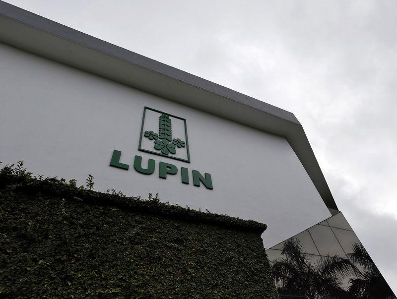 The logo of Lupin, India's No. 2 drugmaker, is seen on the facade of its pharmaceutical plant in Verna
