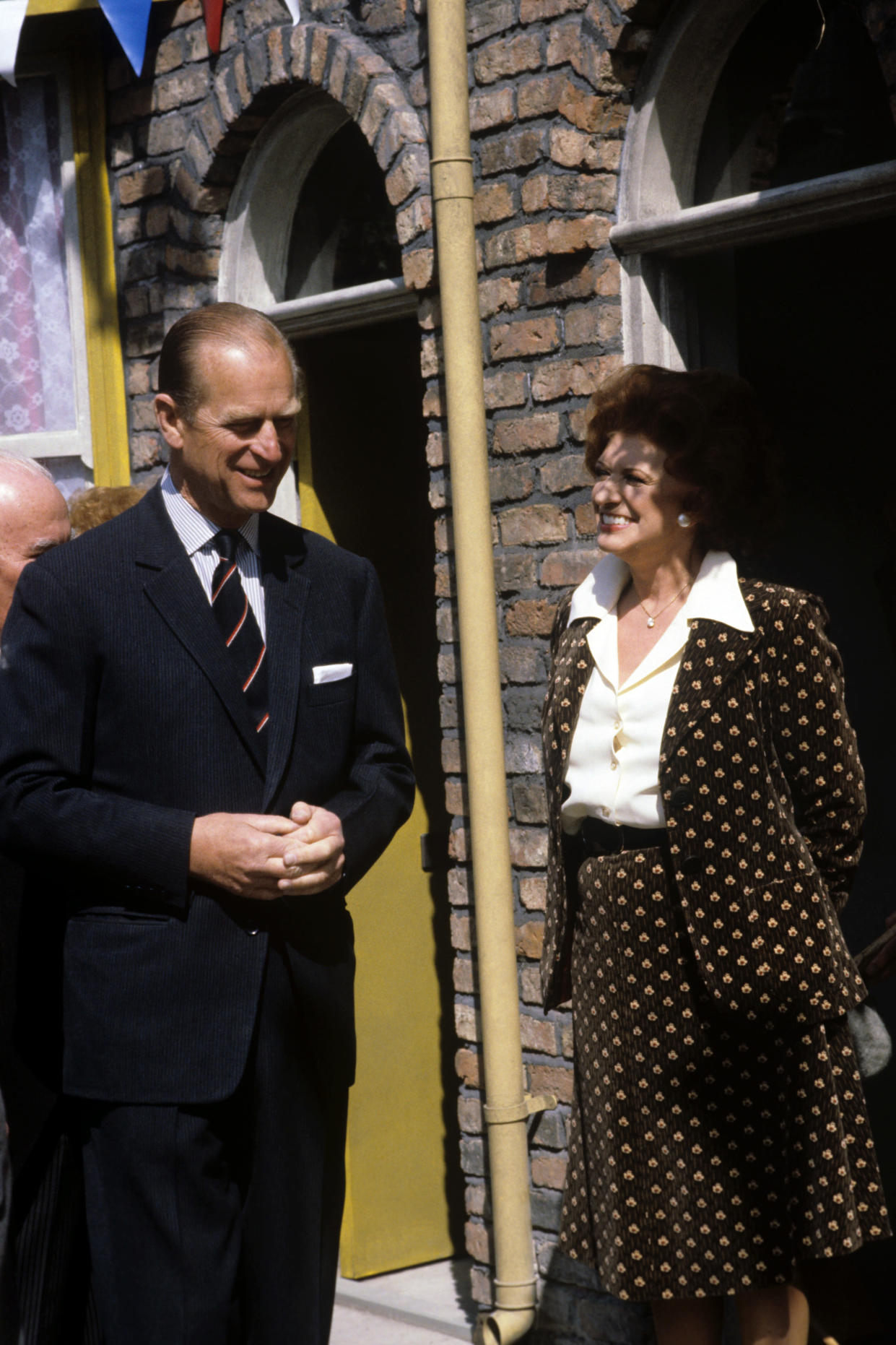 Prince Philip on the set of Coronation St in 1982. (PA Images)