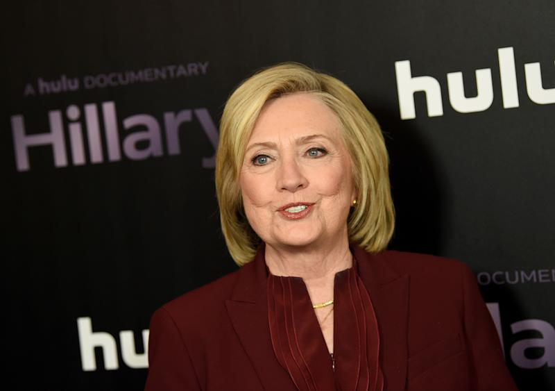 "NEW YORK, NEW YORK - MARCH 04: Hillary Clinton attends the New York City premiere of ""Hillary"" at Directors Guild of America Theater on March 4, 2020.  (Photo: Dimitrios Kambouris/Getty Images)"
