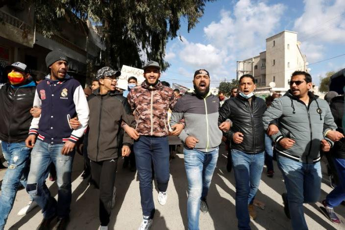 Anti-government protests in Tunis