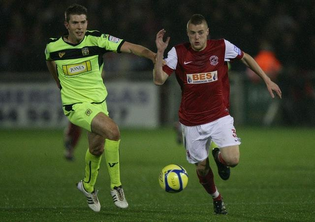 Jamie Vardy (right) joined Leicester from Fleetwood