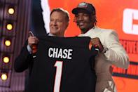 <p>Ja'Marr Chase went fifth in the first round, selected by the Cincinnati Bengals.</p>