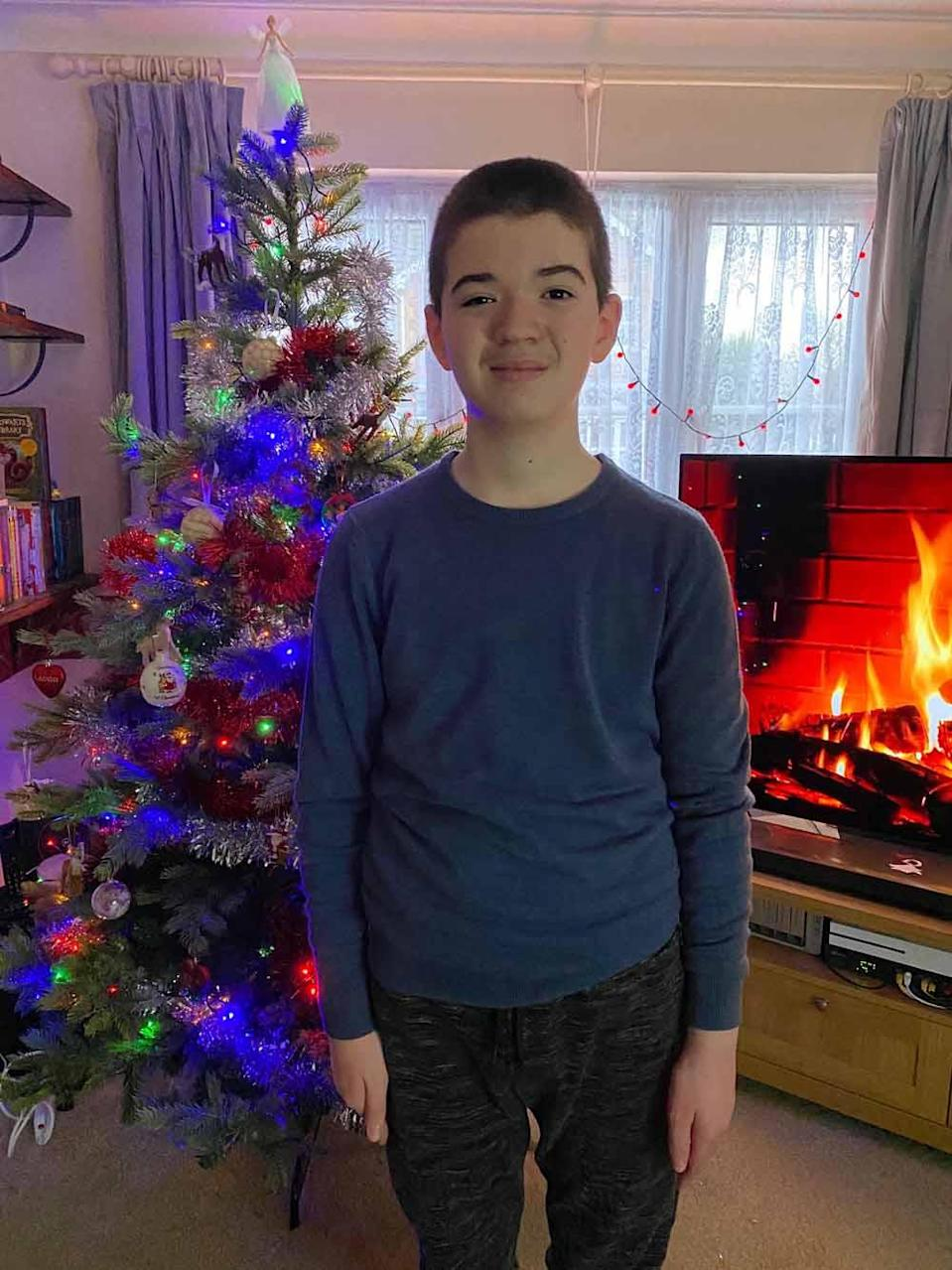 Daniel at home for Christmas in December 2020. PA REAL LIFE COLLECT