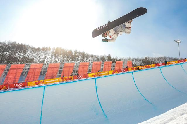 <p>Arielle Gold of USA takes 3rd place during the Snowboarding Women's Halfpipe Finals at Pheonix Snow Park on February 13, 2018 in Pyeongchang-gun, South Korea. (Photo by Laurent Salino/Agence Zoom/Getty Images) </p>
