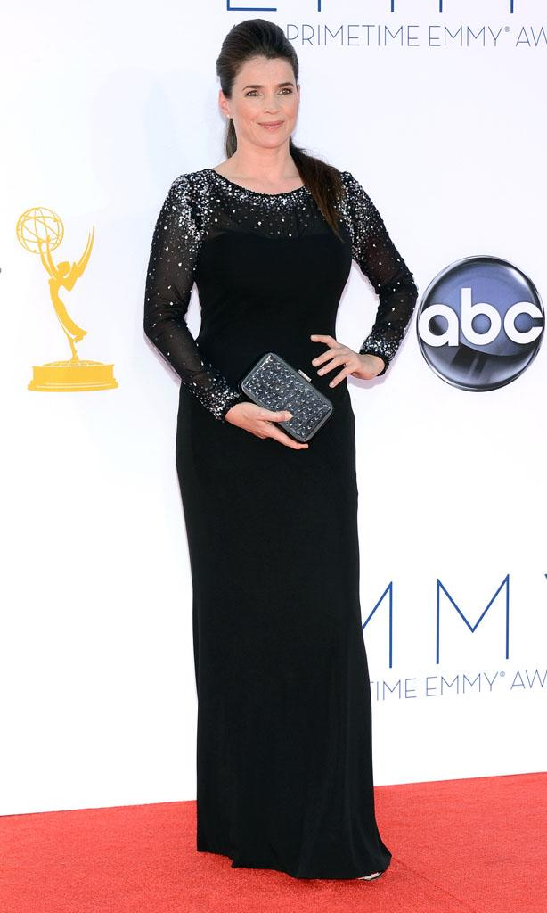 Julia Ormond arrives at the 64th Primetime Emmy Awards at the Nokia Theatre in Los Angeles on September 23, 2012.