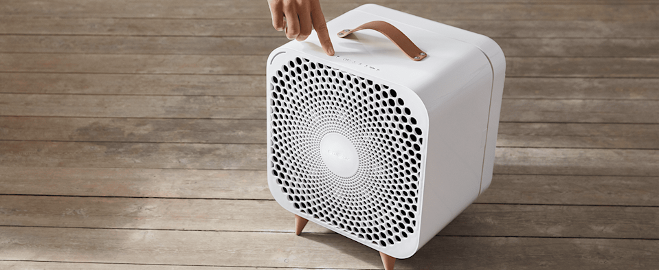 <p>The newest model of the <span>Blueair Pure Fan Auto</span> ($300) does the work for you. The smart device can actually sense the air quality, and work at a level to improve it in your room, while keeping you cool. It also comes with pre-filters that are washable, to help catch larger particles. The pre-filters are avliable in five colors, so you can choose one that'll match your style.</p>