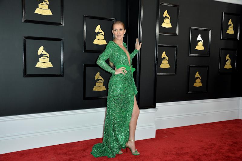 Celine Dion attends the 59th GRAMMY Awards at STAPLES Center on February 12, 2017 in Los Angeles, CA, USA.