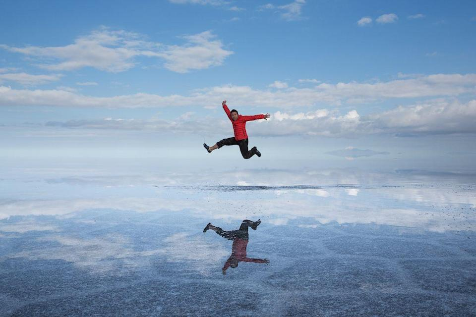 <p>A self-portrait in the salt flats of Salar de Uyuni, Bolivia // January 31, 2014</p>