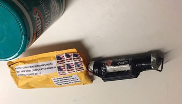 """<p>A package containing a """"live explosive device"""" according to police, received at the Time Warner Center which houses the CNN New York bureau, in New York City, U.S. is shown in this handout picture provided Oct. 24, 2018. (Photo: CNN/Handout via Reuters </p>"""