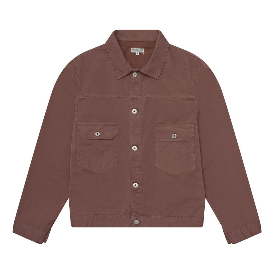 """<p><strong>Knickerbocker</strong></p><p>huckberry.com</p><p><strong>$104.98</strong></p><p><a href=""""https://go.redirectingat.com?id=74968X1596630&url=https%3A%2F%2Fhuckberry.com%2Fstore%2Fknickerbocker%2Fcategory%2Fp%2F61924-truckee-jacket&sref=https%3A%2F%2Fwww.esquire.com%2Fstyle%2Fmens-fashion%2Fg33483963%2Fhuckberry-summer-sale%2F"""" rel=""""nofollow noopener"""" target=""""_blank"""" data-ylk=""""slk:Buy"""" class=""""link rapid-noclick-resp"""">Buy</a></p><p>A classic corduroy trucker in a dusty brown color way. (With more pockets!) </p>"""