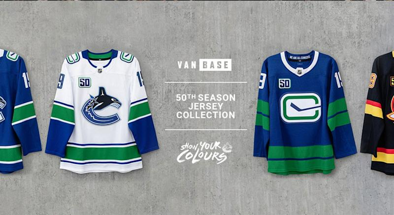 big sale 56960 e96ac These Vancouver Canucks jerseys are fire