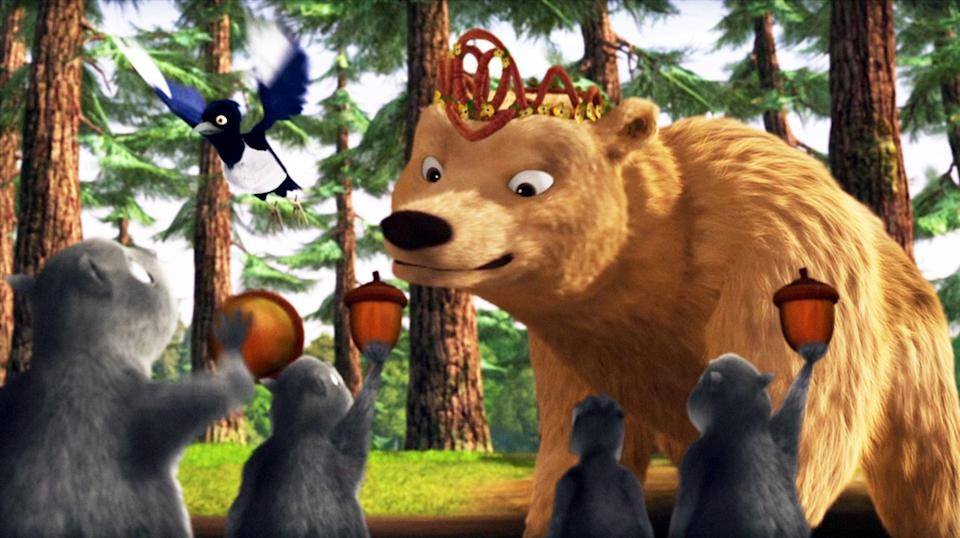"""<p><b>HBO Max's Description:</b> """"Wolf pups Stinky, Claudette and Runt lead the charge to help their royal bear friends when they are forced to deal with an outside threat in this eighth film in the <b>Alpha and Omega</b> saga.""""</p> <p><a href=""""https://play.hbomax.com/feature/urn:hbo:feature:GXiofCAlJ44CnrwEAAAKS"""" class=""""link rapid-noclick-resp"""" rel=""""nofollow noopener"""" target=""""_blank"""" data-ylk=""""slk:Watch Alpha and Omega: Journey to Bear Kingdom on HBO Max here!"""">Watch <b>Alpha and Omega: Journey to Bear Kingdom</b> on HBO Max here!</a></p>"""