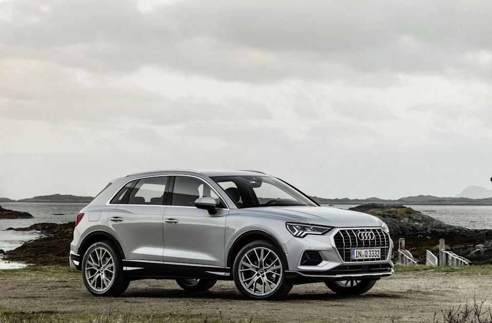 "<p><a href=""https://www.caranddriver.com/audi/q3"" rel=""nofollow noopener"" target=""_blank"" data-ylk=""slk:Audi's Q3"" class=""link rapid-noclick-resp"">Audi's Q3</a> enters the 2021 model year with one big change, at least when it comes to this list: <a href=""https://www.caranddriver.com/news/a34758338/2021-audi-q3-price-cut/"" rel=""nofollow noopener"" target=""_blank"" data-ylk=""slk:it shaved $600 off the starting price"" class=""link rapid-noclick-resp"">it shaved $600 off the starting price</a>. This change comes thanks to a new base engine, a turbo 2.0-liter inline-four with 184 horsepower. The Q3 is now also only offered with two trim levels, Premium and Premium Plus; the old 228-horsepower turbocharged 2.0-liter four-cylinder is offered on both trims under the ""45"" moniker. The Q3 also adds more optional tech to make it an even more compelling buy, including a new 12.3-inch instrument cluster screen and a 10.1-inch infotainment screen. </p><ul><li>Engines: 184-hp turbocharged 2.0-liter inline-four; 228-hp turbocharged 2.0-liter inline-four </li><li>Cargo space: 24 cubic feet </li></ul><p><a class=""link rapid-noclick-resp"" href=""https://www.caranddriver.com/audi/q3/specs"" rel=""nofollow noopener"" target=""_blank"" data-ylk=""slk:MORE Q3 SPECS"">MORE Q3 SPECS</a></p>"