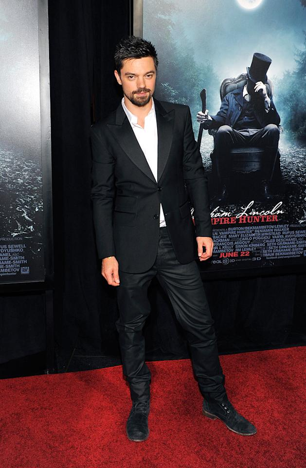 """Dominic Cooper attends the """"Abraham Lincoln: Vampire Slayer 3D"""" New York Premiere at AMC Loews Lincoln Square 13 theater on June 18, 2012 in New York City."""