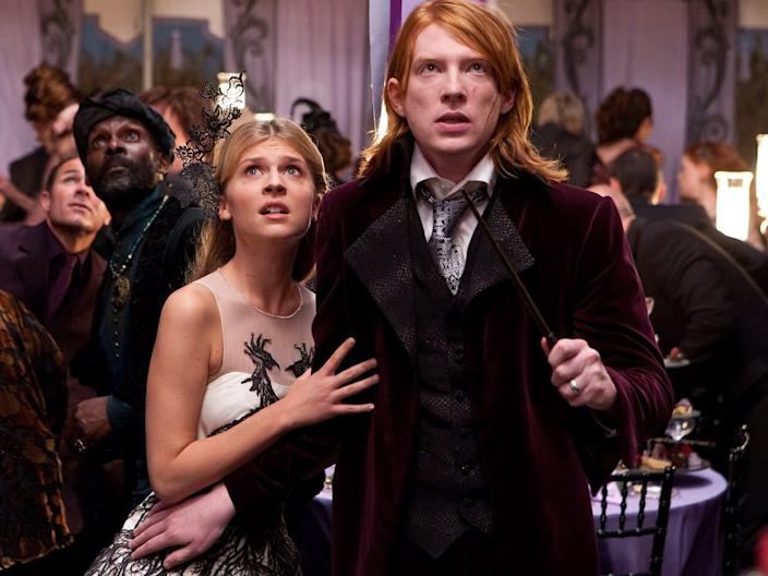 "Clémence Poésy and Domhnall Gleeson in ""Harry Potter and the Deathly Hallows - Part 1."""