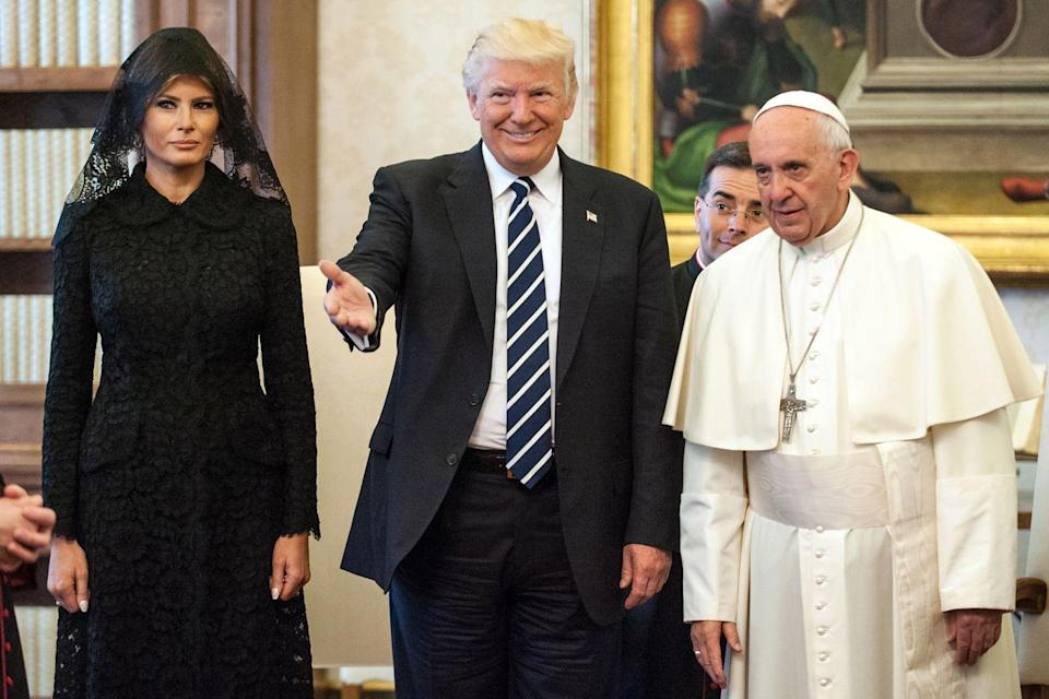 "<p>The public thought it was strange the first lady chose traditional attire to visit the Pope when he's <a href=""http://www.telegraph.co.uk/fashion/people/melania-ivanka-trump-stuck-traditional-vatican-dress-codes-meeting/"" rel=""nofollow noopener"" target=""_blank"" data-ylk=""slk:known"" class=""link rapid-noclick-resp"">known</a> for having more relaxed standards. </p>"
