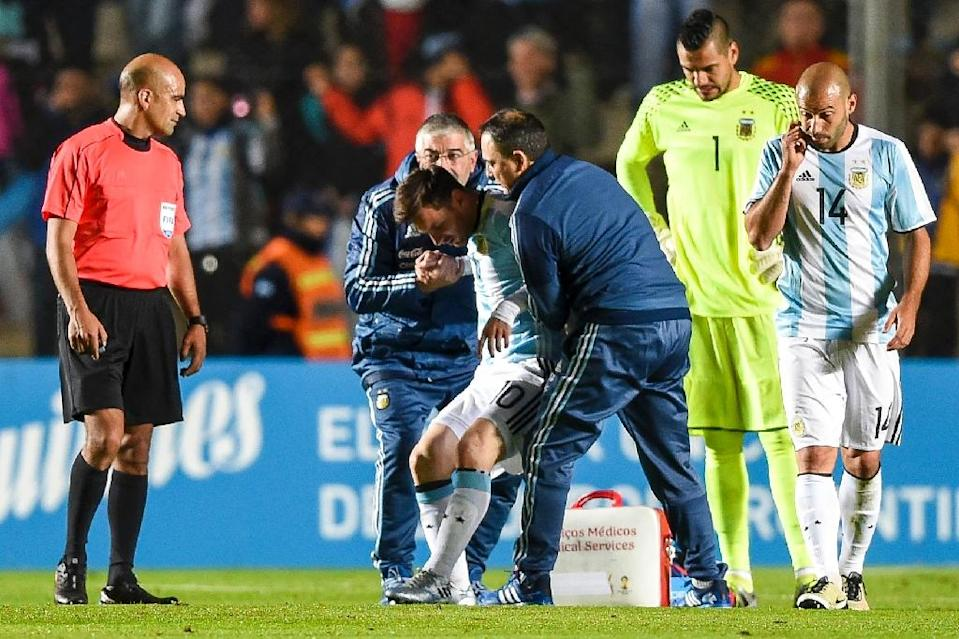 Lionel Messi's commitment to playing for Argentina was reflected in his decision to fly from Spain to Buenos Aires for a low-key friendly against Honduras on May 27, 2016, where he suffered a back injury (AFP Photo/Eitan Abramovich)