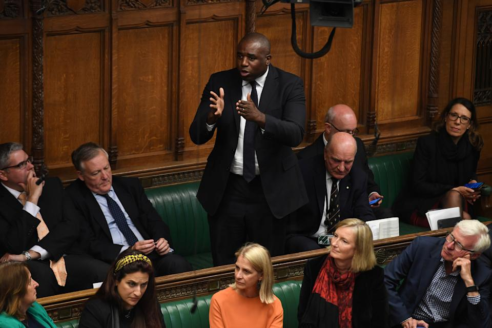 Britain's Labour Party MP David Lammy speaks after Speaker John Bercow delivered a statement in the House of Commons in London, Britain September 9, 2019. ©UK Parliament/Jessica Taylor/Handout via REUTERS ATTENTION EDITORS - THIS IMAGE WAS PROVIDED BY A THIRD PARTY