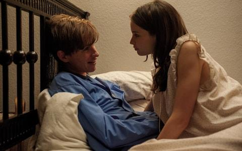 Scene from The Theory of Everything, starring Eddie Redmayne as Stephen Hawking, and Felicity Jones