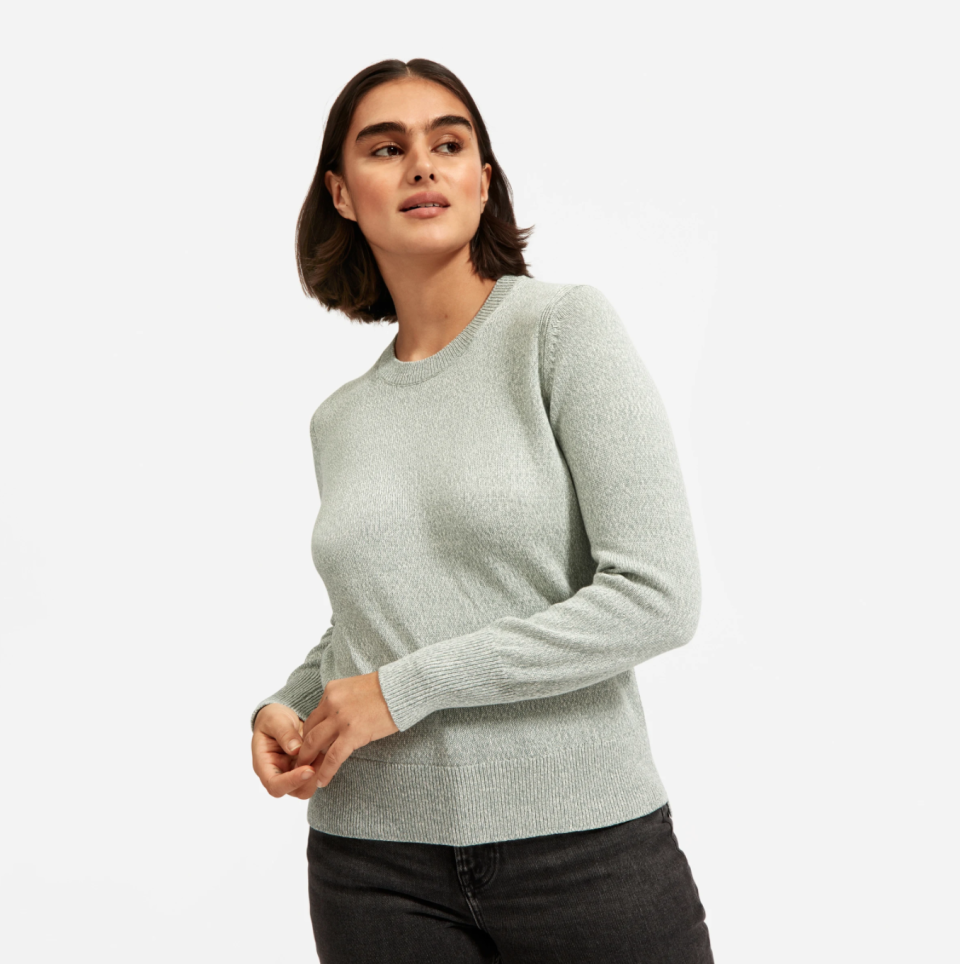 The Soft Cotton Crew in Pale Mint.