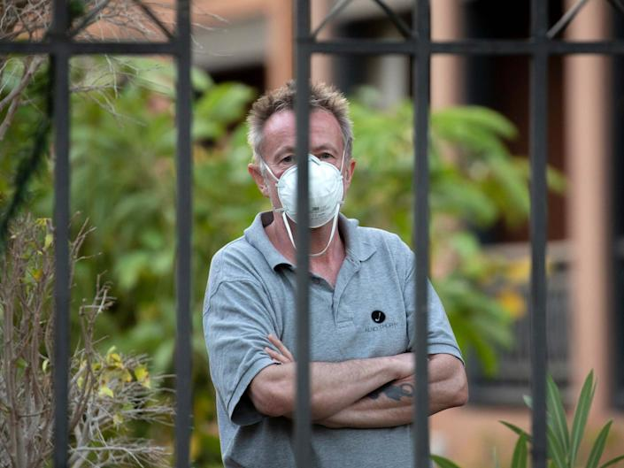 Britons stuck in a coronavirus-stricken hotel in Tenerife have been told they can return to the UK if they test negative for the virus: AP Photo/Joan Mateu