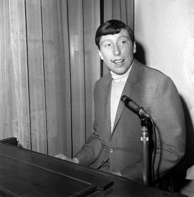Singer Chris Farlowe topped the charts in 1966