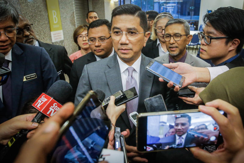 Minister of Economic Affairs Datuk Seri Mohamed Azmin Ali at the PKR Political Bureau meeting in Parliament House on December 4, 2019. — Picture by Hari Anggara