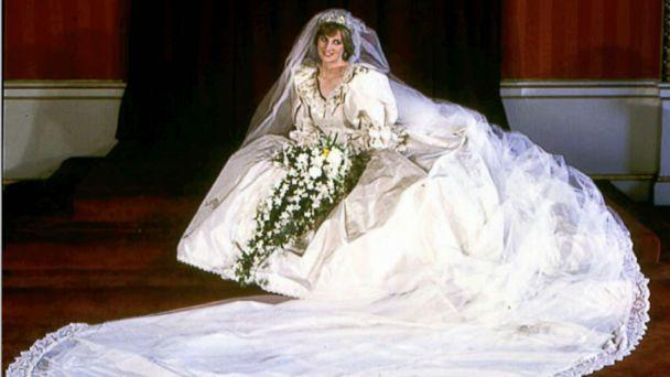 PHOTO: Diana, Princess of Wales, in her wedding dress worn at her wedding to Prince Charles in London, July 29, 1981. (AP/PA)