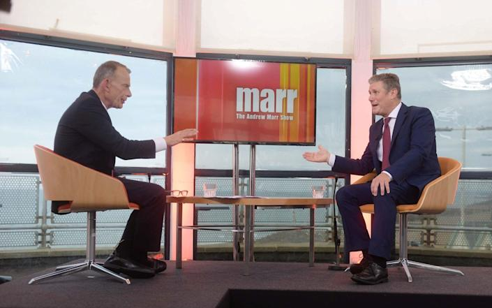 Labour leader Sir Keir Starmer appears as a guest on the BBC's Andrew Marr Show