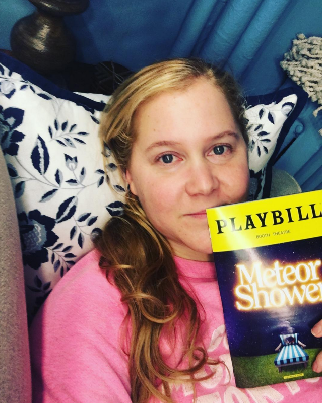 "<p>""Tonight is the first preview of @meteorshowerbwy,"" shared the comedian, with a photo of the Playbill from her new show on the Great White Way. ""I was born here in Manhattan and have been seeing broadway shows since I was 5. I wished and dreamed for this moment. Every order of fried calamari I served or beer I poured or audition I humiliated myself at got me here. Thank you Steve Martin for believing in me and thank you to every single audience member who will see this production. I am so grateful and won't take this for granted."" (Photo:<a href=""https://www.instagram.com/p/Ba93ze3Fq1o/?taken-by=amyschumer"" rel=""nofollow noopener"" target=""_blank"" data-ylk=""slk:Amy Schumer via Instagram"" class=""link rapid-noclick-resp""> Amy Schumer via Instagram</a>) </p>"